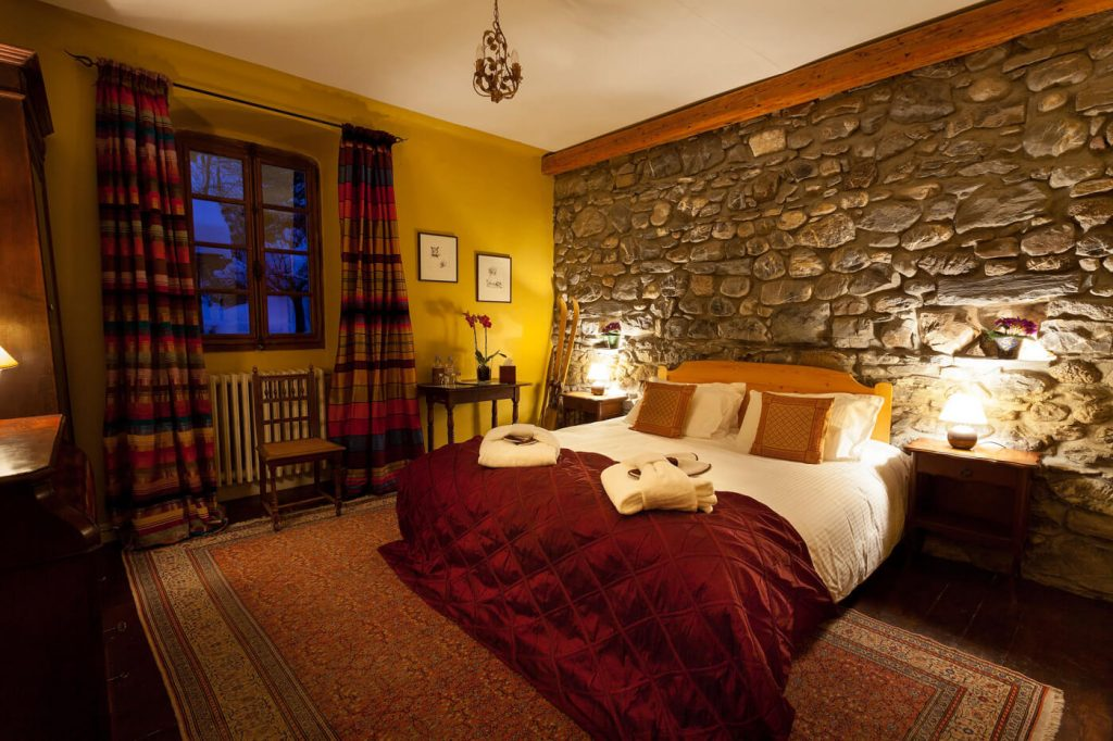 Cell bedroom at the Farmhouse hotel in Morzine