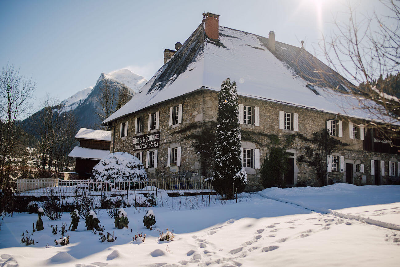 The Farmhouse boutique hotel in the ski resort of Morzine at the French Alps