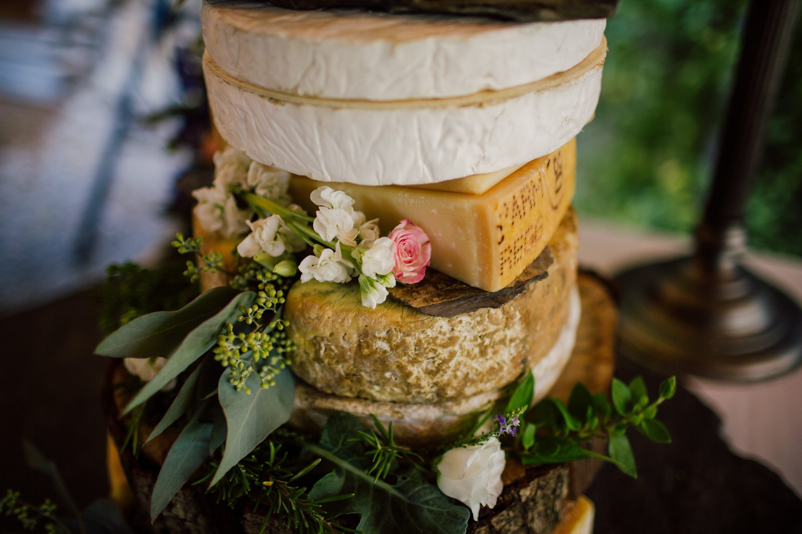 cheese tower wedding catering