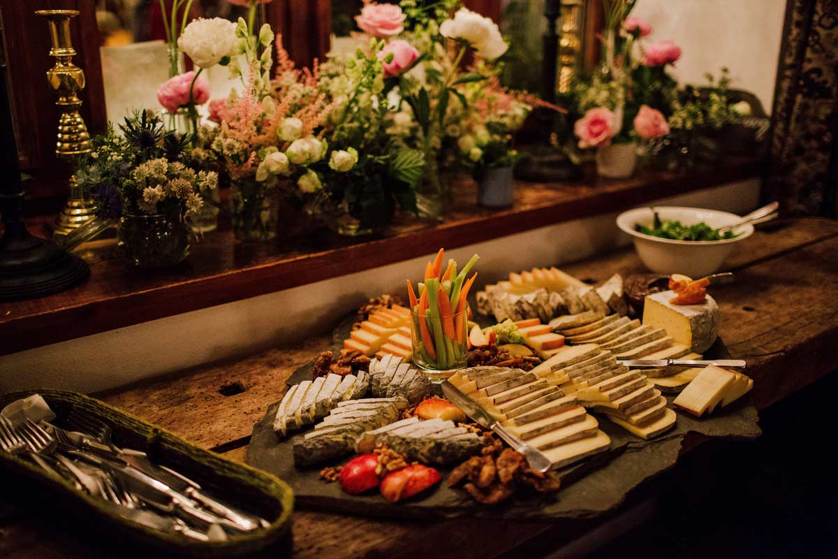cheese plate wedding catering