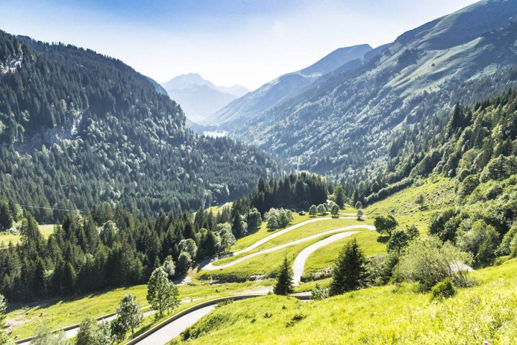 The Col de Joux Verte, a famous cycling route around Morzine