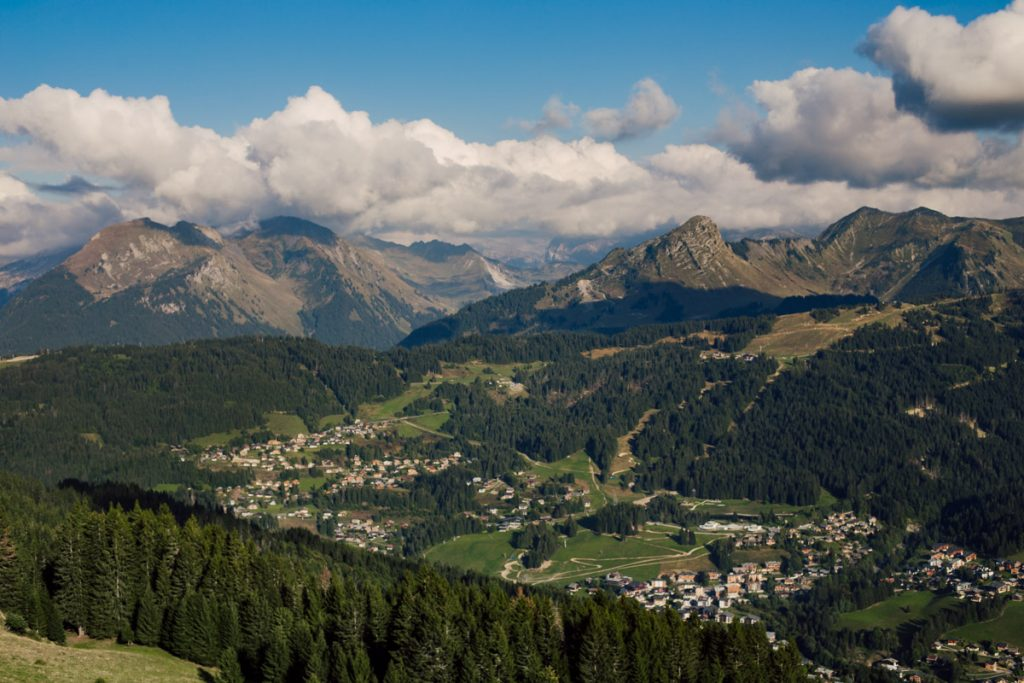 View from Mont Caly during one of the easy hikes around Morzine