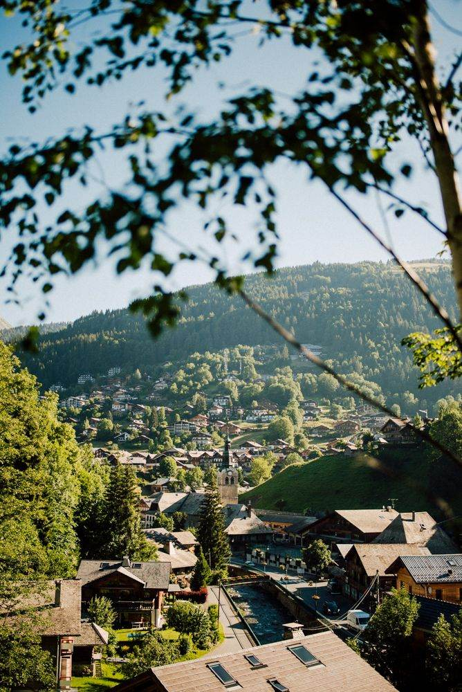 view of Morzine village coming back from Cascade de Nyon