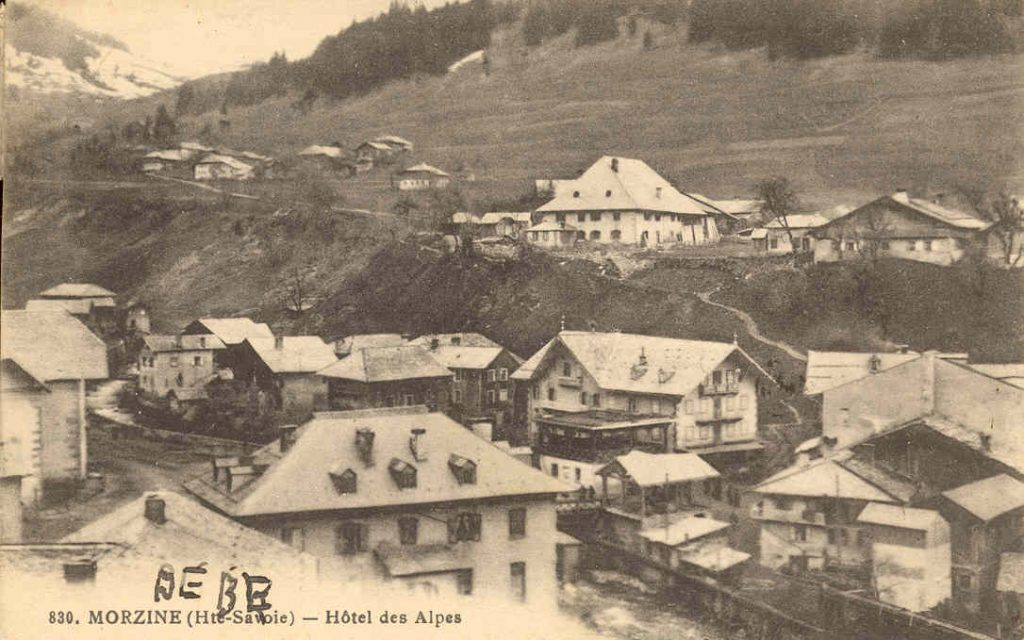 vintage photo of The Farmhouse hotel in Morzine