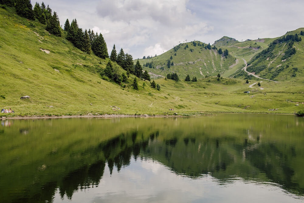 Lac de joux plane, one of the most scenic alpine lakes in and around Morzine