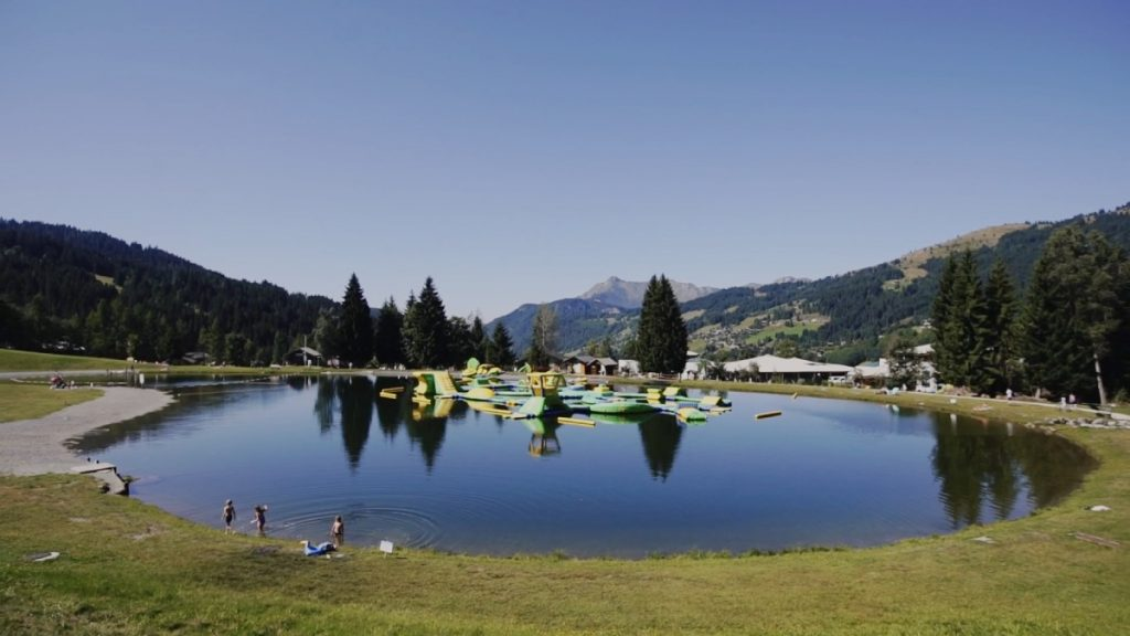lac des ecoles in les gets, a lovely alpine lake