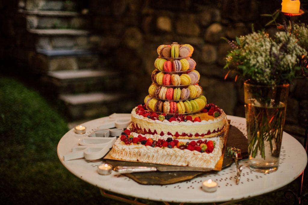 Unique French style wedding cake