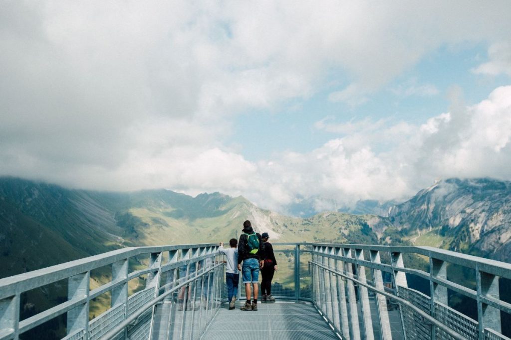 Nyon platform overlooking at vallee de la manche